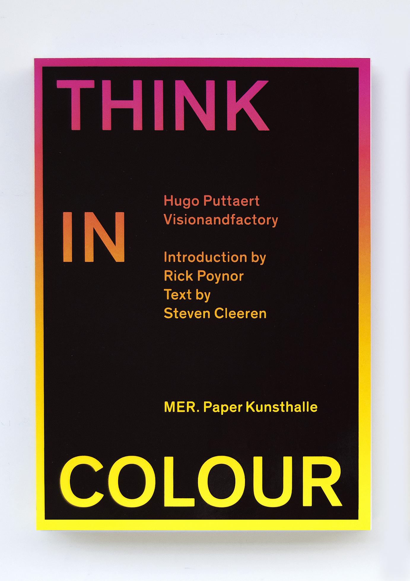 The book is available in three cover versions, yellow-red, green, blue and magenta-purple.